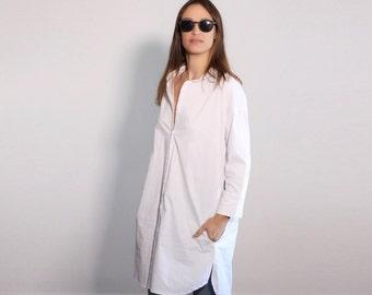 Plus Size Tunic Dress, White Tunic Shirt, Maxi Tunic, Oversized White Shirt Dress, Oversize Tunic, Minimalist Long Shirt, Plus Size Shirt