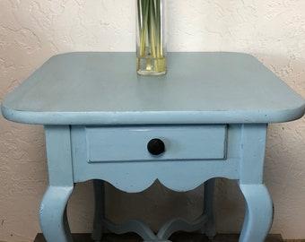 Blue Farmhouse Table