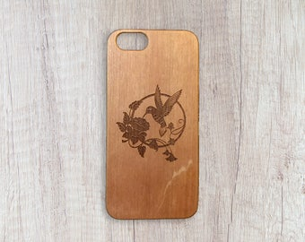 The Sun Bird - Personalised Wooden Phone Case