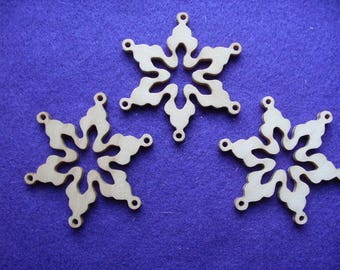 30 snowflakes, wood, 8 cm (14-0003B30)