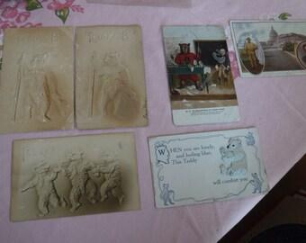 Vintage Teddy B Teddy Roosevelt et beaucoup plus de six cartes postales du début des années 1900