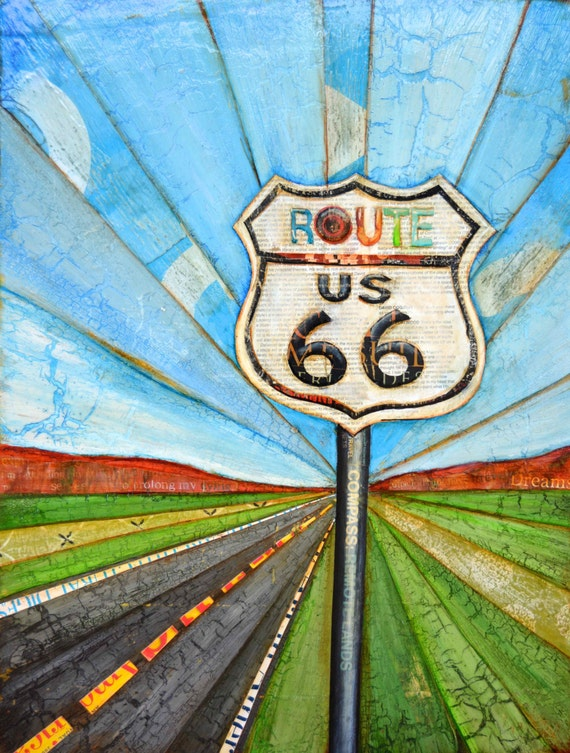 Road Trippin'- Route 66 sign- All Sizes- Fine Art Print