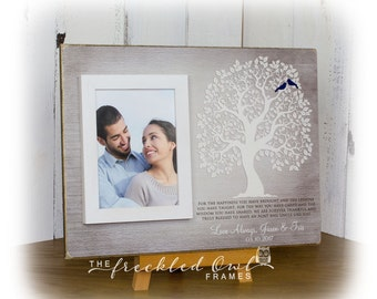 Aunt and Uncle Thank You Gift, Aunt Gift, Uncle Gift, Personalized Tree for Aunt and Uncle, Aunt and Uncle Picture Frame, Gift for 12X16