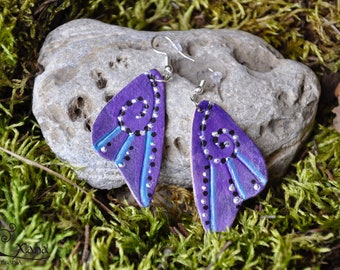 Purple Fairy Wings Earring