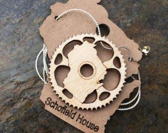 Wisconsin bike gear necklace