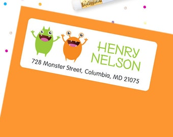 Little Monster Address Labels - Sheet of 30