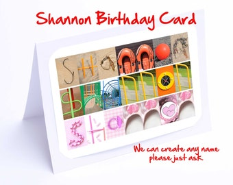Shannon Personalised Birthday Card