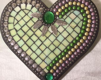 Light Green Mosaic Heart