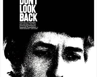 """Bob Dylan - Don't Look Back - Home Theater Media Room Decor - 13""""x19"""" or 24""""x36"""" - Bob Dylan Poster Print - Rock and Roll Poster"""
