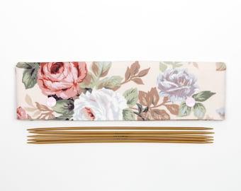 """Flower DPN cozy, 20cm / 8"""" DPN holder, sock needle keeper"""