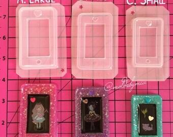 ON SALE Kawaii cell phone 3 sizes option flexible plastic resin mold