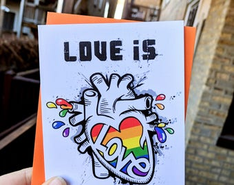 LOVE is LOVE - greeting card