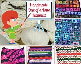 Crochet Blankets, Crochet Afghans, Crochet Throws, Crochet Lapghans, Handmade Crochet, OOAK Blankets, Free Shipping, Custom Crochet.