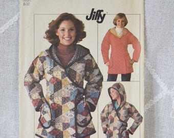Simplicity 7651 Sewing Pattern Misses Hooded Jacket Size Small DIY Fashion Sewing Crafts PanchosPorch