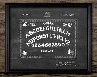 Ouija Board Patent Print - 1920 Ouija Board Design - Spirit Board - Talking Board - Spiritualist Art - Single Print #1382 - INSTANT DOWNLOAD