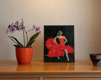 Spanish Dancer - Original Acrylic painting