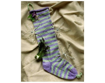 Christmas Stocking Knitting Pattern Little Violet Who Christmas Design to Knit ONLINE DOWNLOAD