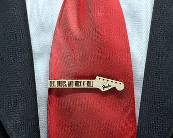 SEX drogue et pince à cravate ROCK'Roll - barre de liaison bois d'érable