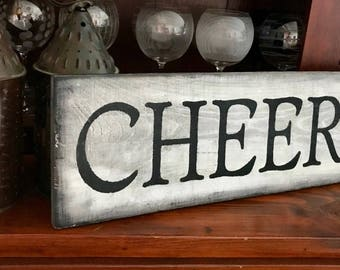 Barnwood CHEERS Bar Kitchen Rustic Wooden Sign