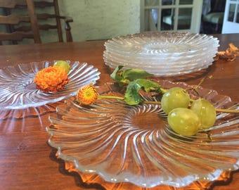 Set of 8 Seabreeze Swirl Salad Plates