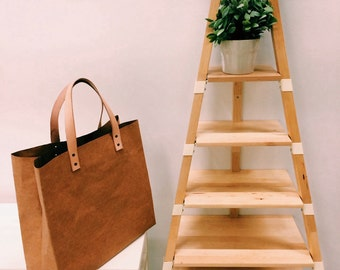 Shopping Bag Grand : Tyvek and Kraft paper shopping bag/market bag/shoulder bag/top handle bags/washable and eco friendly