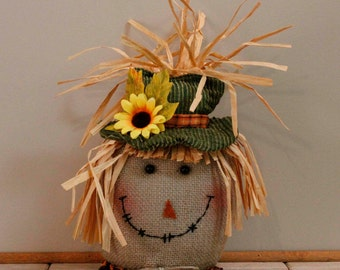 Scarecrow with Sunflower on hat.( Item 276)