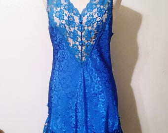 Vintage Cobalt Blue Camisole/Night Dress