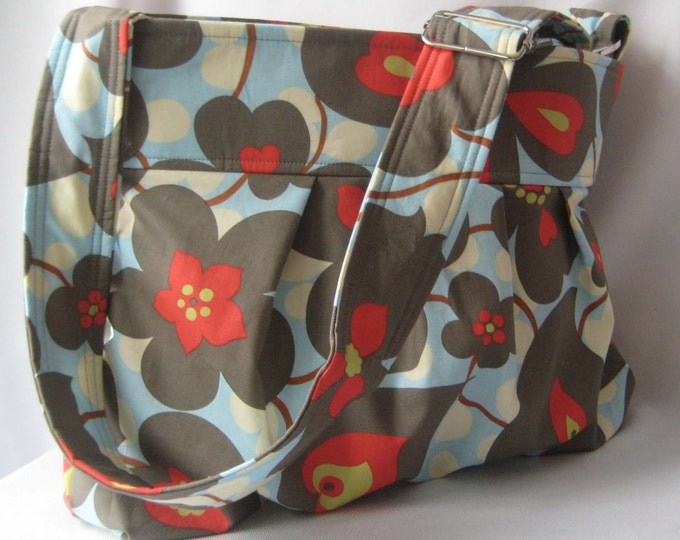 Emma Diaper Bag Medium Morning Glory  READY to SHIP Messenger Bag
