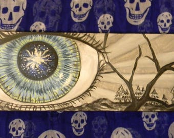 Starry eye oil painting
