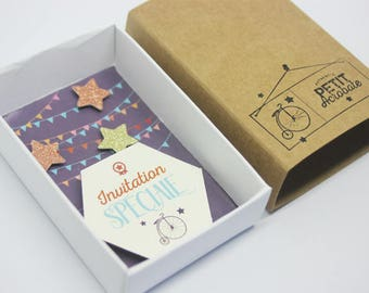 Box invitation - little Acrobat