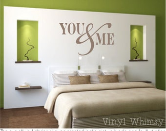 Vinyl Wall Art - Quote - You And Me - Vinyl Lettering - Decal - MVDLO059