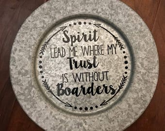 Galvanized Decor Charger Plate