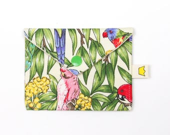 Pression mini pochette, oiseaux australiens 9 pouces circulaire aiguille rangement, point de marqueur pochette, porte carte de crédit