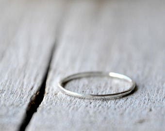Sterling silver thin stacking ring, dainty, stackable, ring guards and spacers, made to order