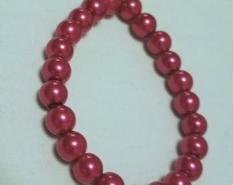 Red stretch cord bracelet
