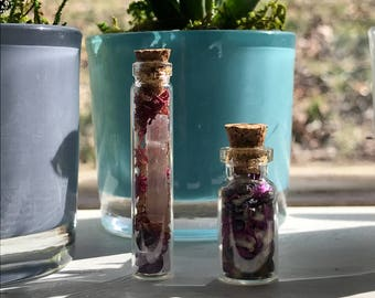 Extra Small Love and Happiness Spell Bottles
