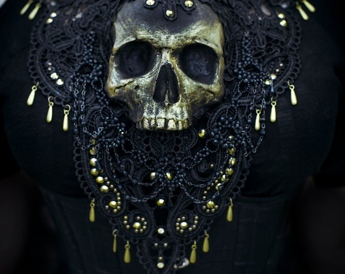 Catacomb Couture Black and Gold Chest Piece