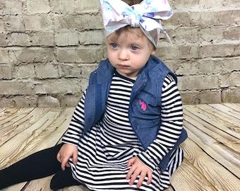 Sea Glass Headwrap- Headwrap; Baby Headband; Head Wrap; Baby Headwrap; Toddler Headband; Baby Head Wrap; Toddler Headwrap; Mommy and Me