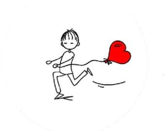 boy in love cabochon, 18mm