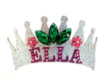 Personalized Birthday Headband, Frozen Fever Personalized Birthday Tiara, Elsa Crown, Elsa Tiara Frozen Fever, First Birthday Crown Tiara