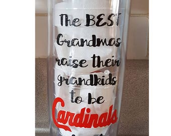 Grandma STL Cardinals Fan, Cardinals Baseball, St. Louis Cardinals Cup, STL Fan, Call Me Grandma, Mother's Day, Personalized 20 oz Tumbler,