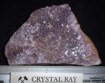 Amethyst Drusy Quartz Crystals a Mineral Sample