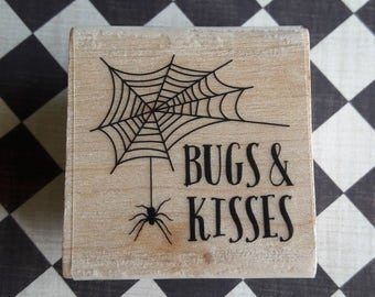 Bugs & Kisses Halloween Wood Mounted Rubber Stamp Scrapbooking And Paper Craft Supplies