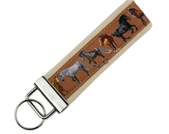 Personalized Key Chain / Key Fob Horses with Optional Initials