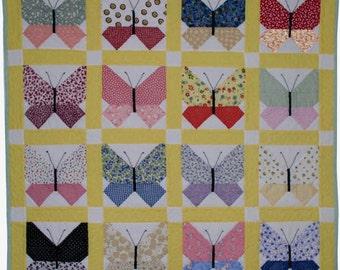 Retro Butterfly Quilt Pattern PDF