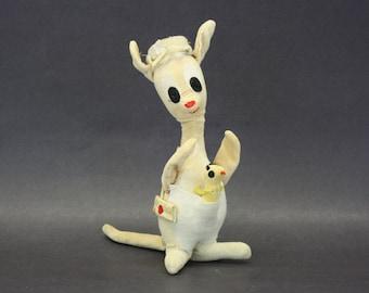 Vintage Dakin Dream Pets Plush Kangaroo with Roo (E5476)