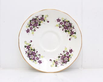 Queen Anne Bone China Violets saucer for teacup