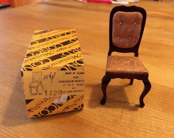 Vintage Concord Miniatures Upholstered Chair