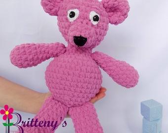Soft Pink Teddy Bear Baby Soft Pink Teddy Bear Soft Plush Pink Teddy Bear Teddy Bear Stuffed Animal Baby Toy Teddy Bear for Baby Pink Teddy
