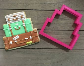 Stacked Luggage Cookie Cutter